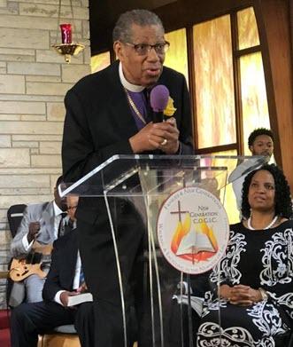 Bishop Moody Preaching