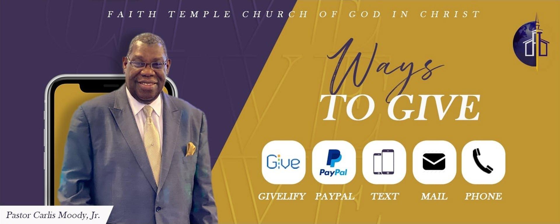 Faith temple giving